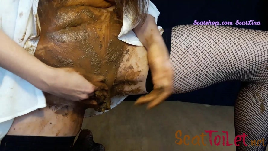 Shitty panties in my dirty pussy with ScatLina  [MPEG-4]