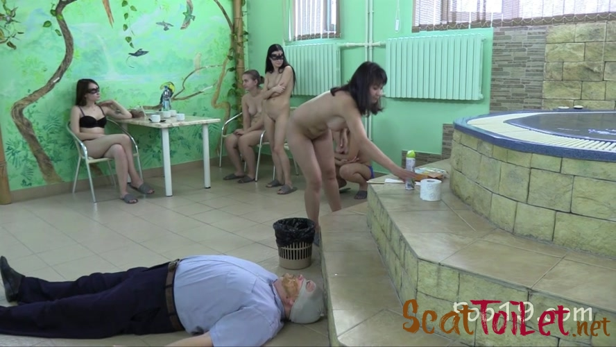 5 Girls tear up the toilet slave with MilanaSmelly  [MPEG-4]