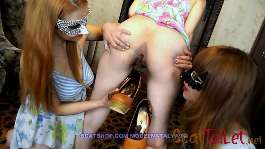 Three pairs of shoes full of shit with ModelNatalya94 [MPEG-4]