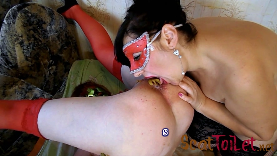 Marina and Olga poop in your mouth with ModelNatalya94  [MPEG-4]
