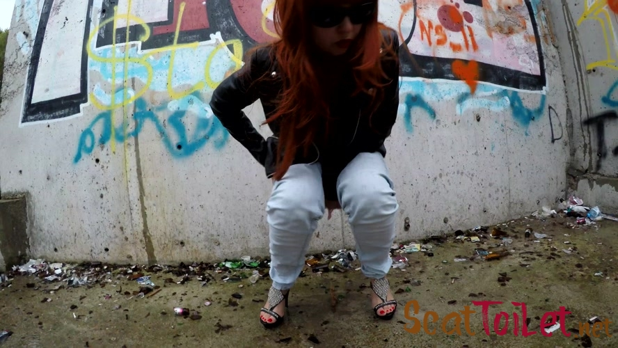 Pooping in Public Place with Graffiti with janet [MPEG-4]