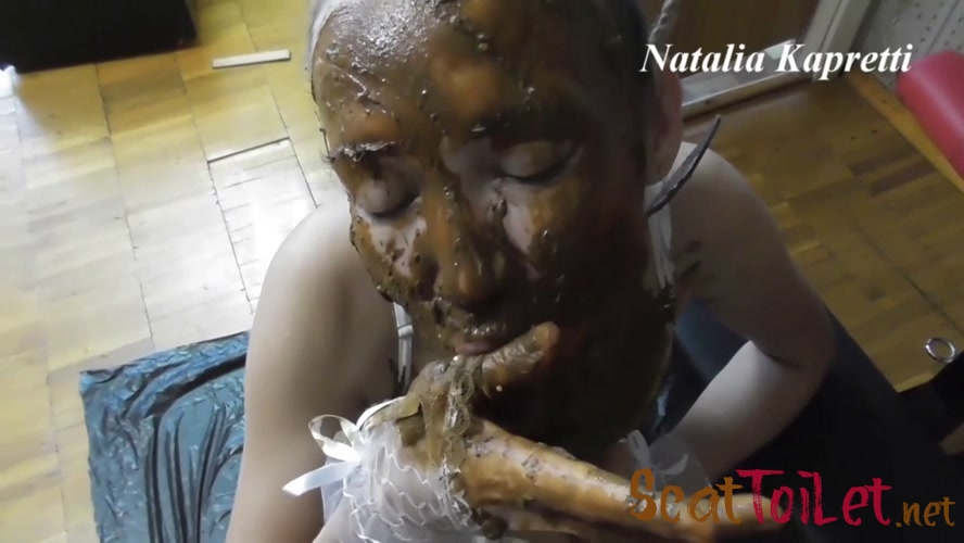 Sly toilet slut, shitting and eating shit with Mistress [MPEG-4]
