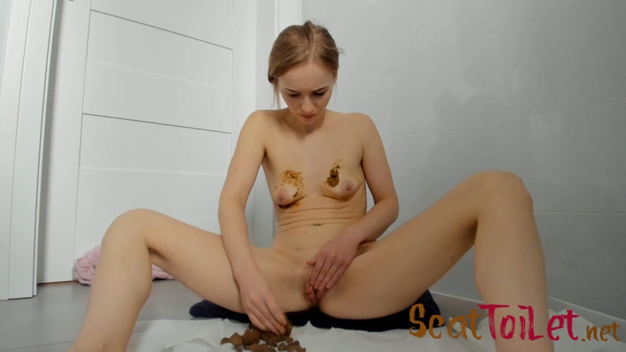 Poop in jeans and boobs smearing with LucyBelle  [MPEG-4]